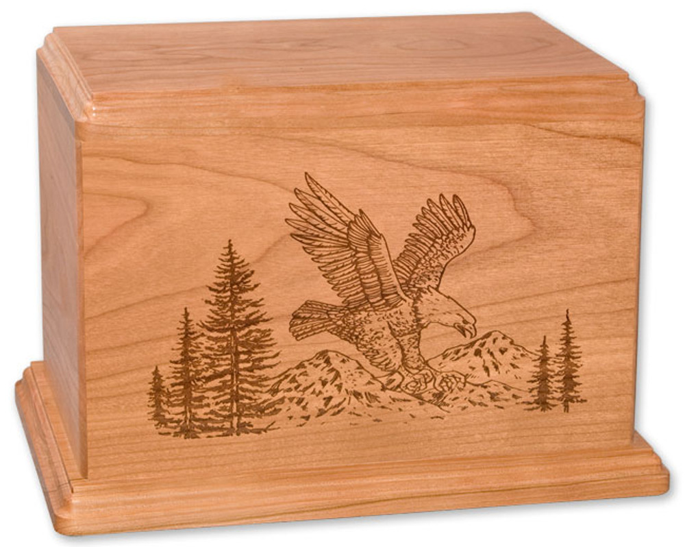 Laser Carved Eagle Urn | Cherry