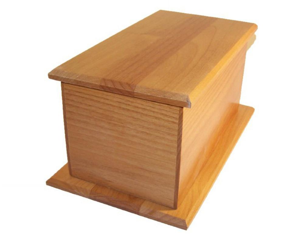 Alder Wood Cremation Urn