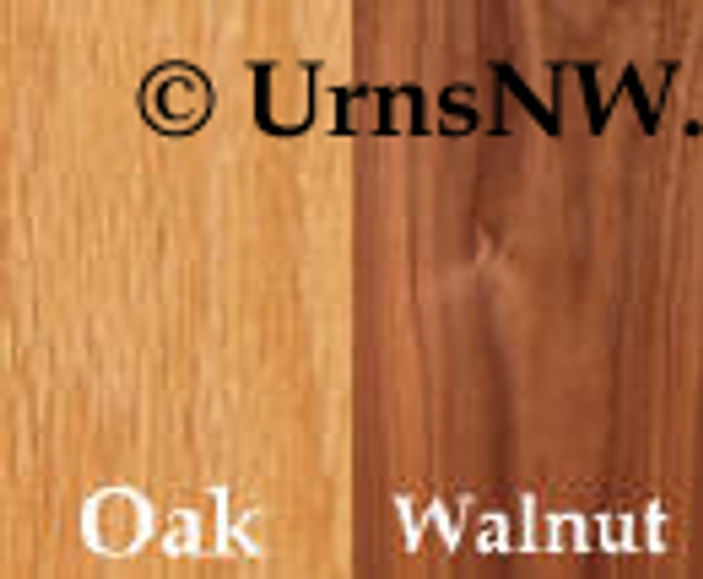Oak or Walnut urns