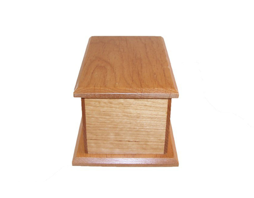 Alder Wood Pet Urn - 50 Cubic Inches