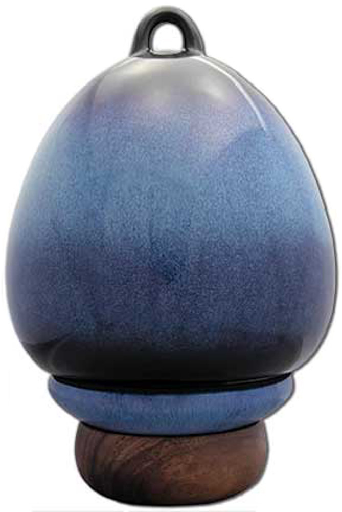Birdhouse Urn in Cobalt Blue | Back