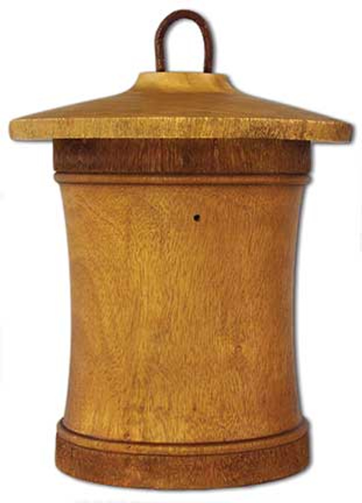 Birdhouse Scattering Urn Turned Birdsong - Mini | Back