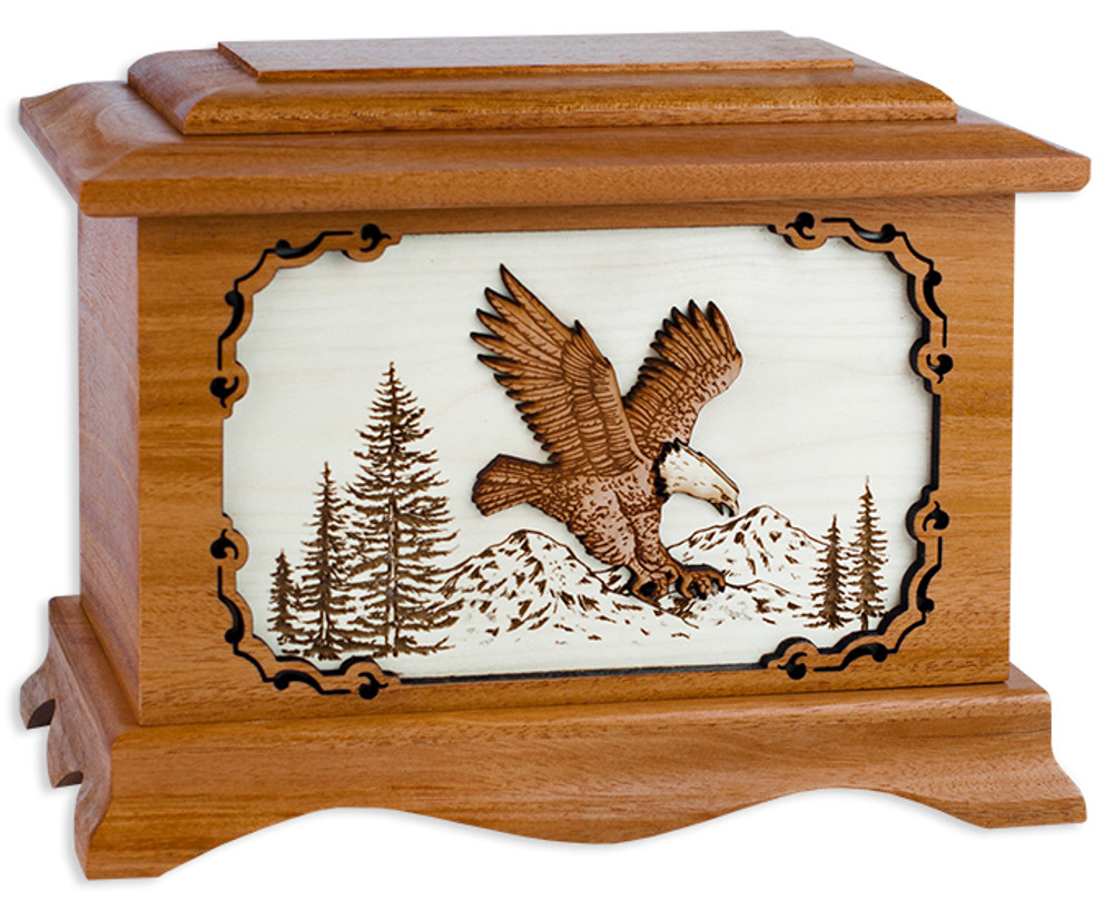 Eagle Cremation Urn in Mahogany