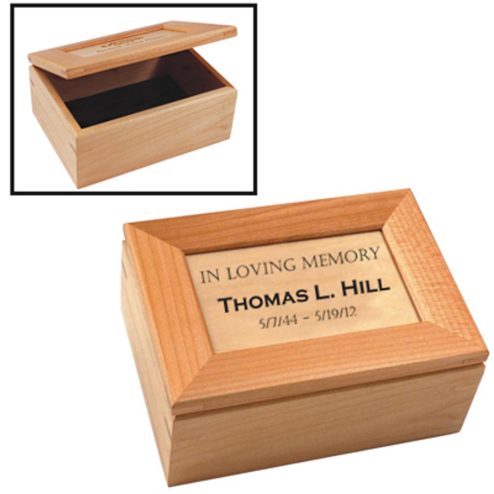 Personalized Maple Keepsake Box | Inscription