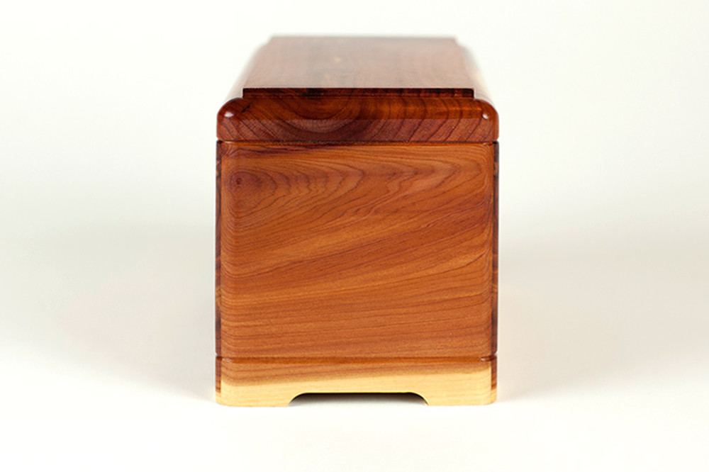 Cedar Wood Pet Cremation Urn - Side 1