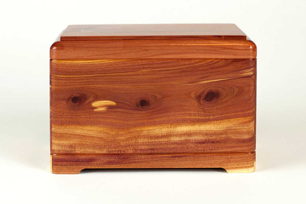 Cedar Wood Pet Cremation Urn - Reverse