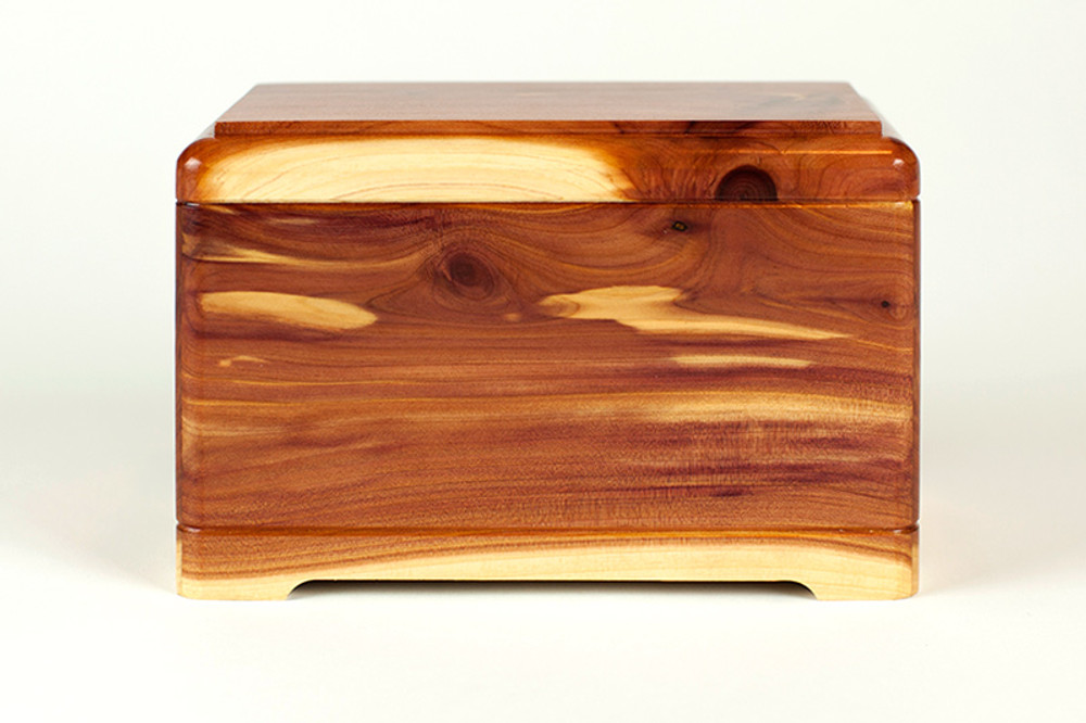 Cedar Wood Pet Cremation Urn - Front