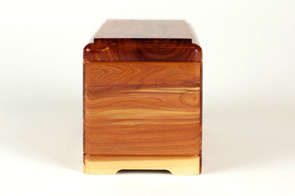 Cedar Wood Pet Cremation Urn - Side 2