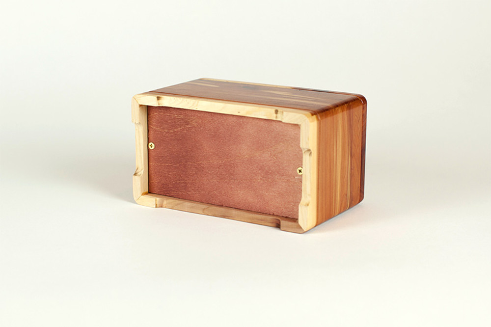 Cedar Wood Pet Cremation Urn - Access Panel