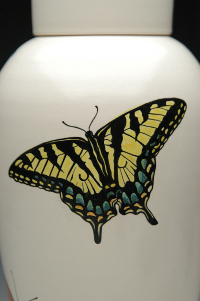 Hand Painted Butterfly Detail