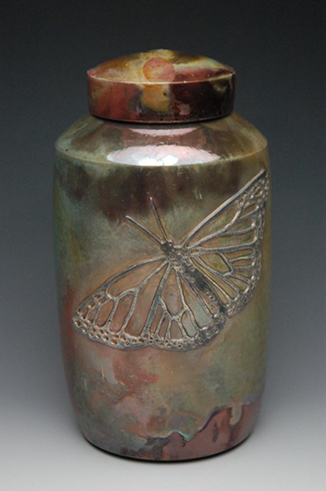 Butterfly Raku Urn | Each Urn Varies Slightly