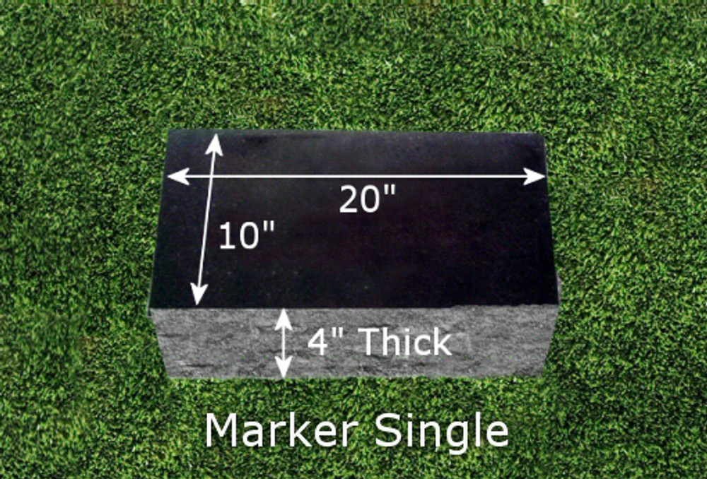 Granite Grave Marker - Single Large