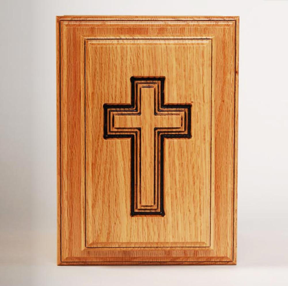 Oak Cross Urn - Top