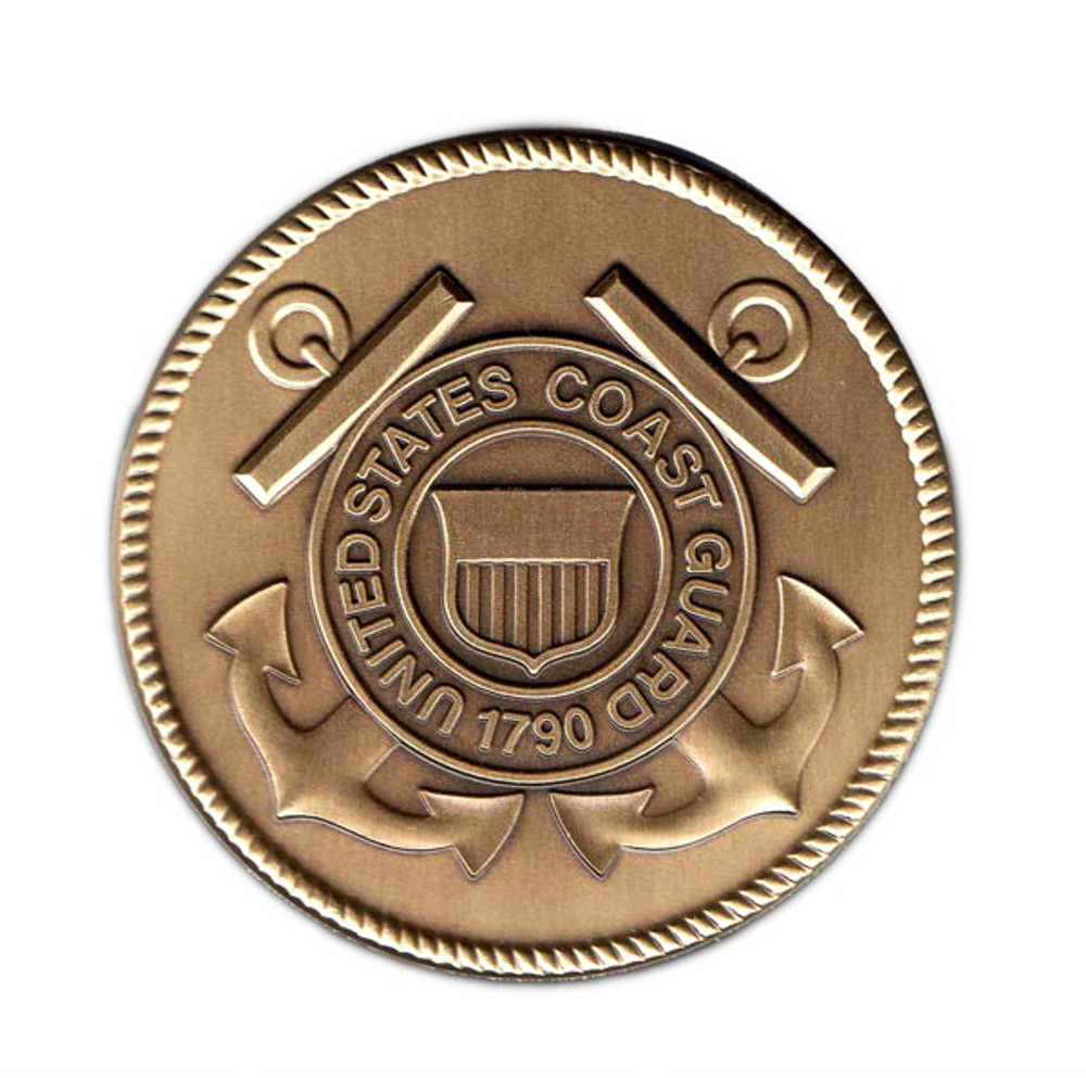 Coast Guard Military Cremation Urn Medallion