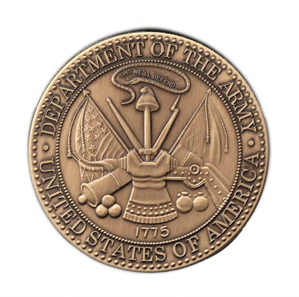 Army Military Cremation Urn Medallion