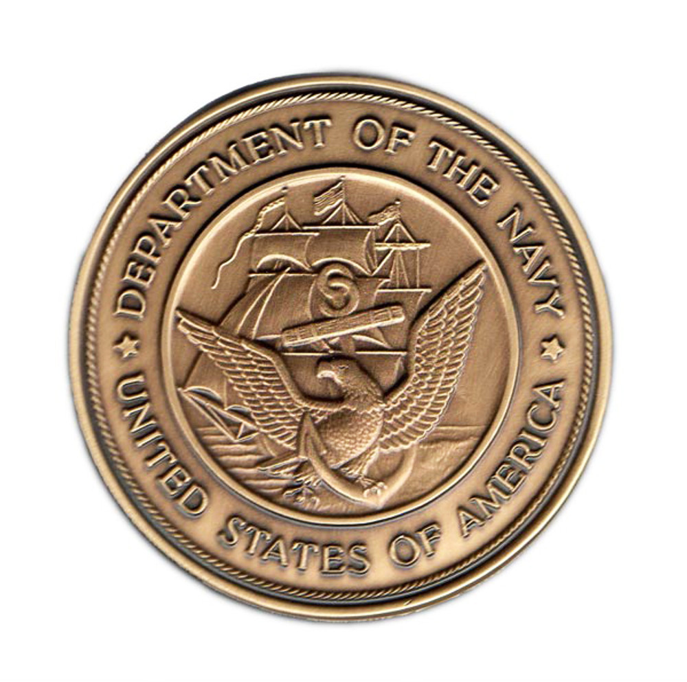 Navy Military Cremation Urn Medallion