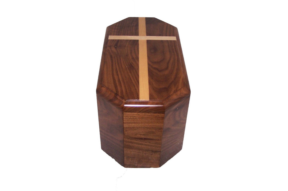 Walnut Companion Urn - Maple Cross Inlay