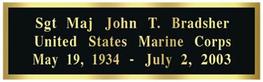 Optional Engraved Name Plate