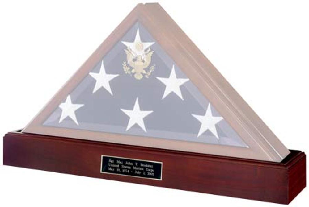Pedestal urn in Walnut - flag case sold separately