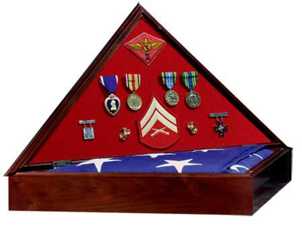 Heritage Military Flag Case - Open