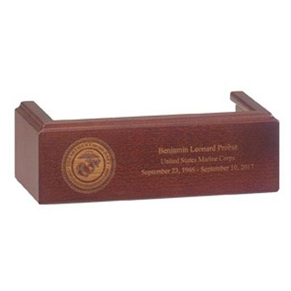 Flag Case Display Pedestal - Cherry