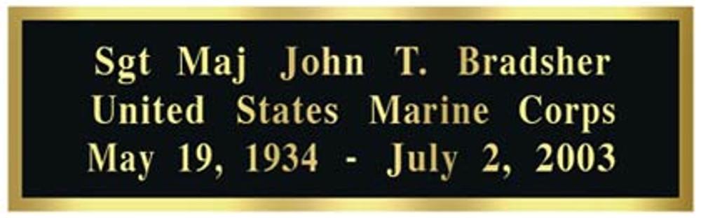 Flag Case: Optional Name Plate