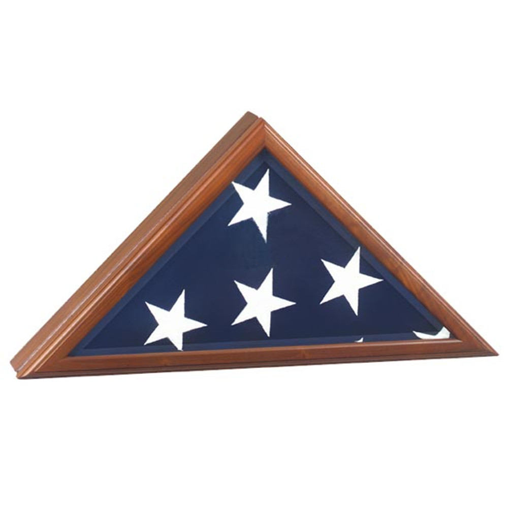 Vice Presidential Burial Flag Case - Walnut, Made in the USA