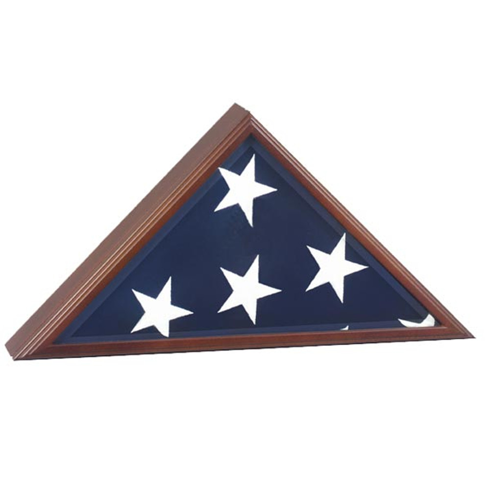 Vice Presidential Burial Flag Case - Cherry, Made in the USA