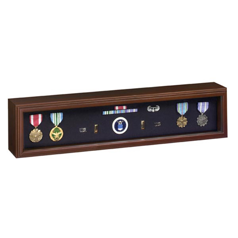 Military Medal Display Case - Cherry