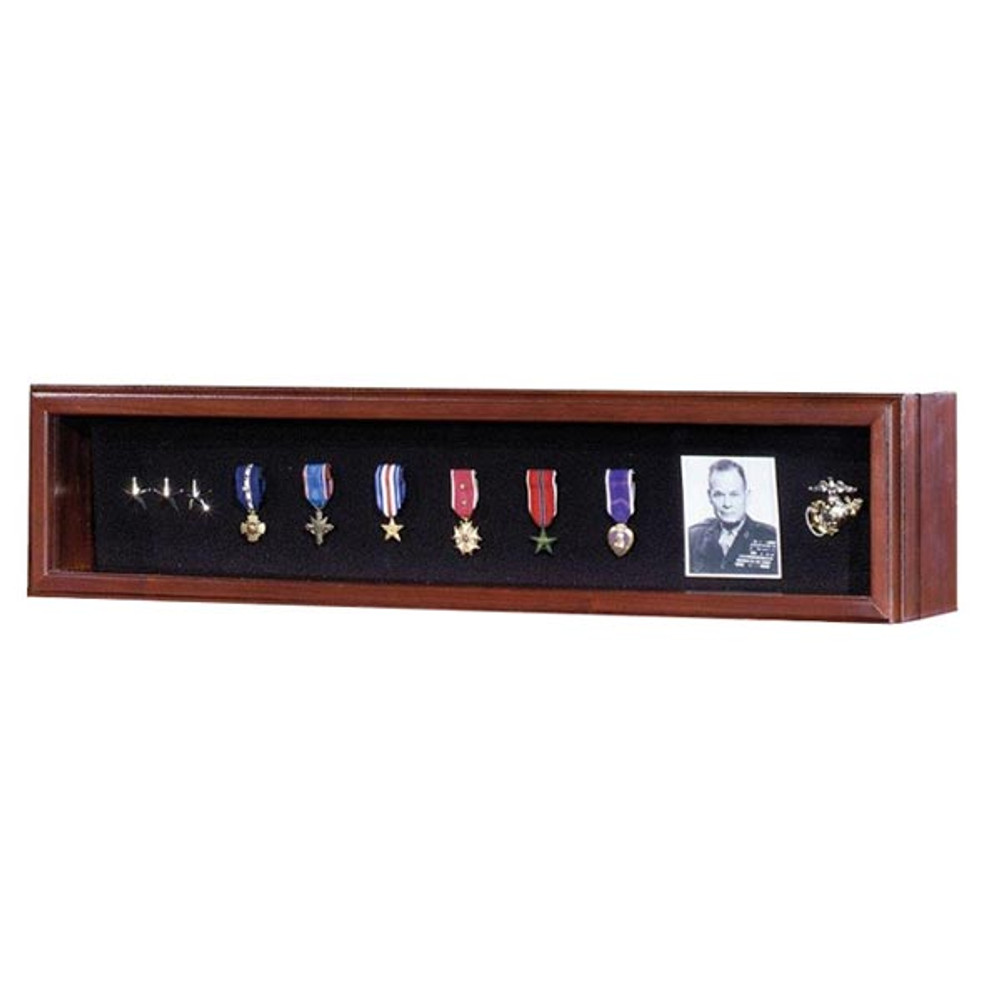 Military Medal Display Case - Walnut
