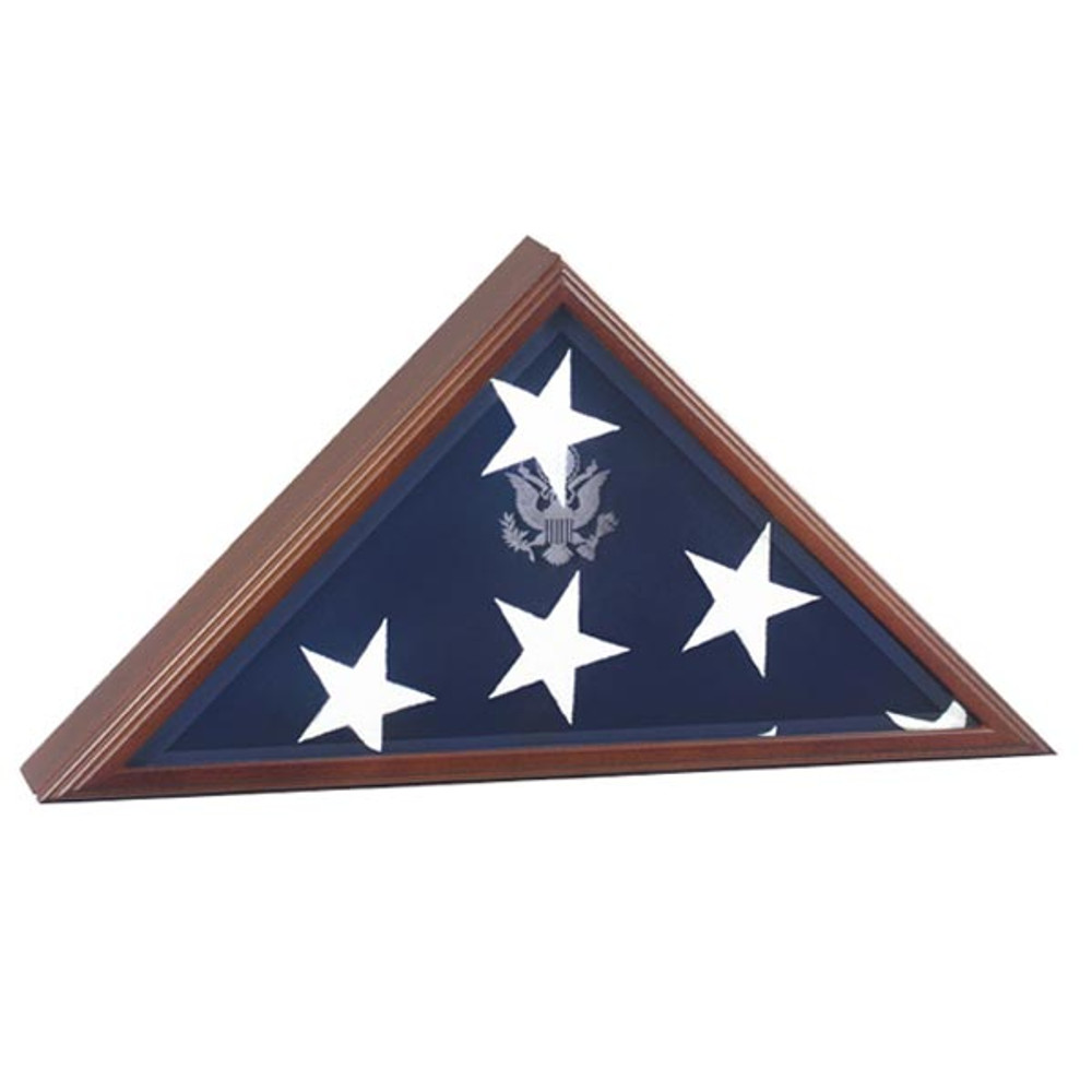 Presidential Flag Display Case in Cherry Wood
