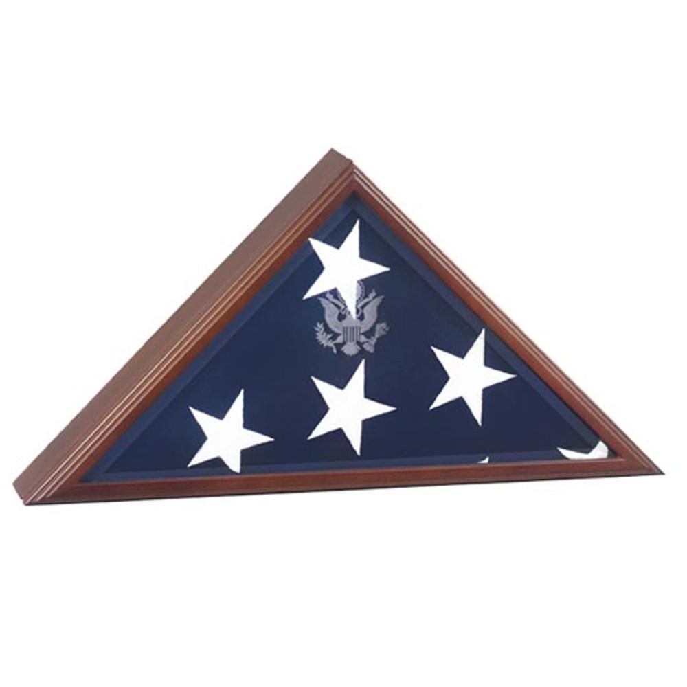 Presidential Flag Display Case in Cherry Wood