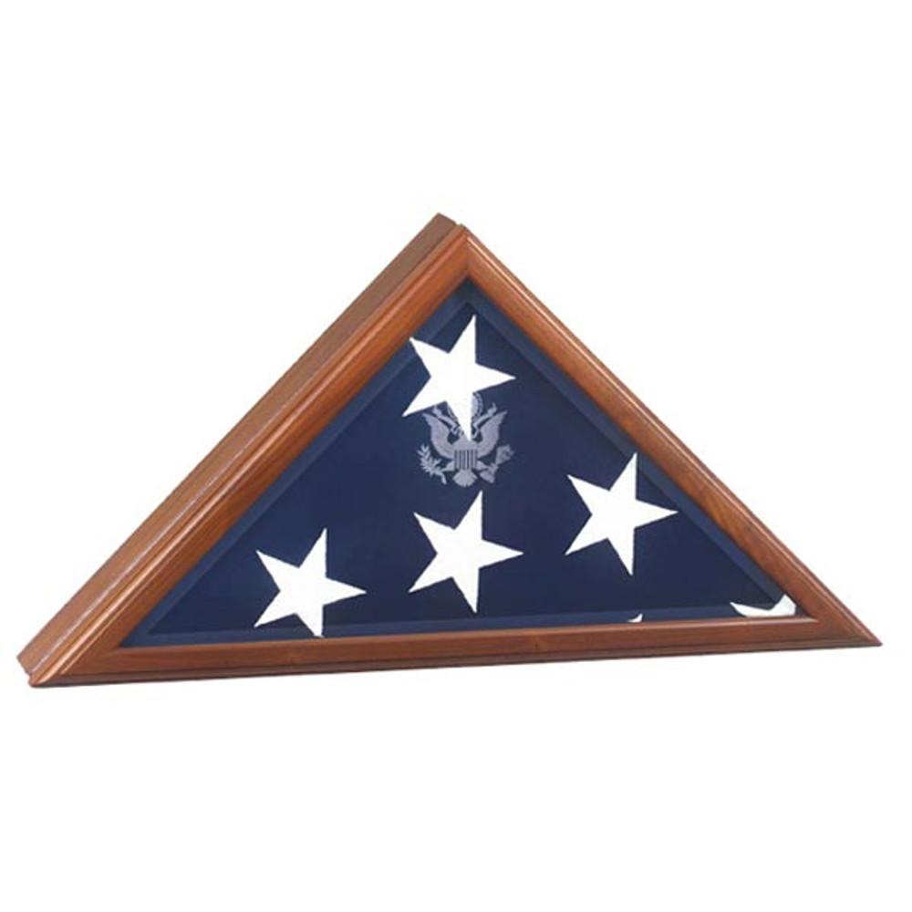 Presidential Flag Display Case in Walnut Wood