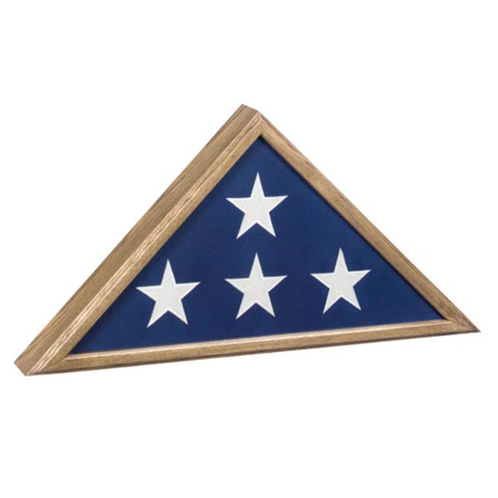 Veteran Burial Flag Case - Oak