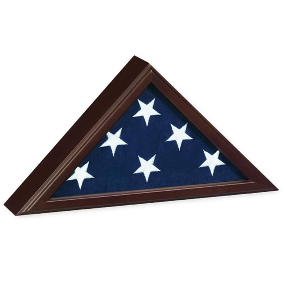 Capitol Burial Flag Case - Cherry Wood
