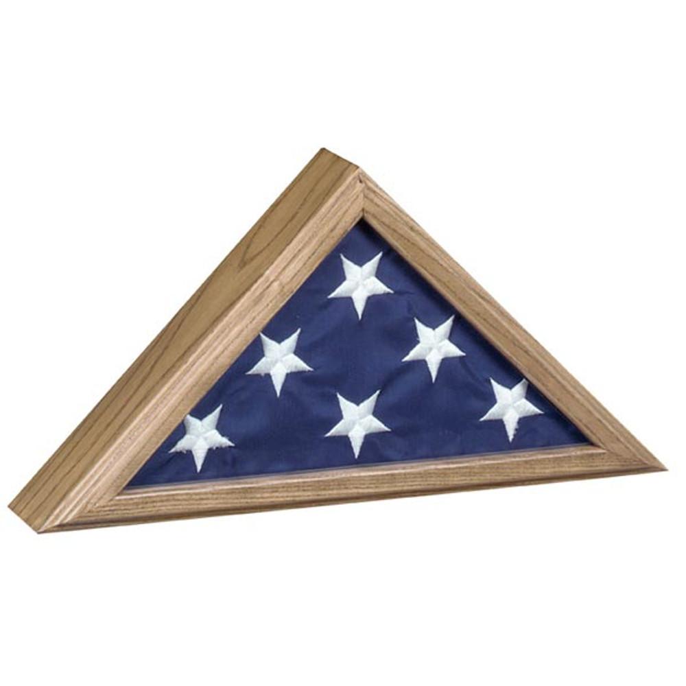 Capitol Burial Flag Case - Oak Wood