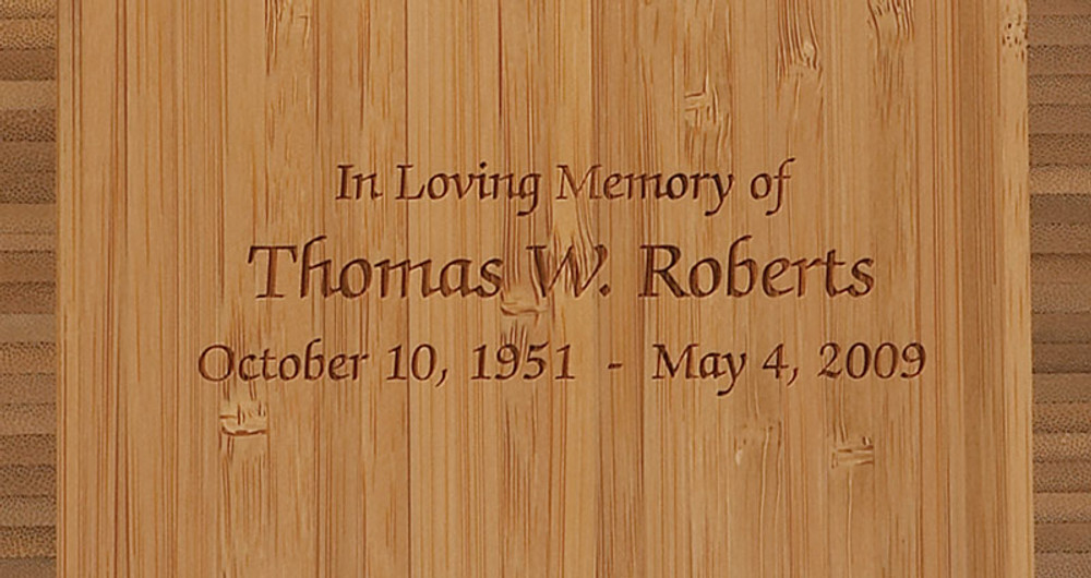 Laser Engraved Inscription Detail