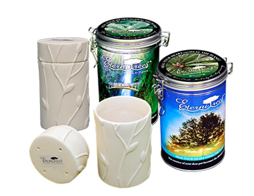 Biodegradable Memorial Tree Urns | Tin Sample