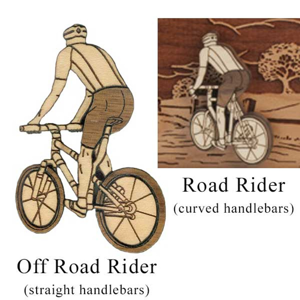 Cyclist options: Off Road Rider or Road Rider