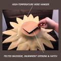 Reverse side detail: Opening & hanger