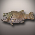 Handmade Ceramic Bass Fish Cremation Urn