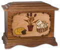 Gardener Cremation Urn in Walnut Wood