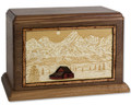 Cremation Urn with Famous Mountain Scenes