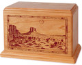 Desert Mesa Cremation Urn - Natural Cherry