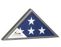 Gunmetal military flag display, made in the USA