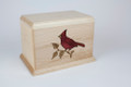 Colorful Cardinal art cremation urn