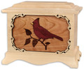 Cardinal Cremation Urn - Maple Wood