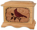 Cardinal Cremation Urn - Oak Wood