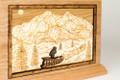 Alaskan Dogsled engraved art detail