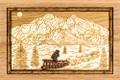 Dogsled & Mount McKinley Engraved Art